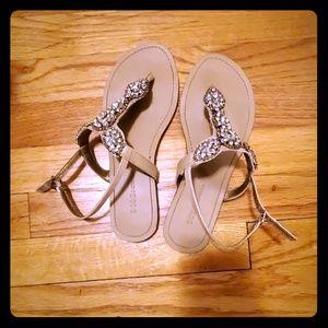 BCBGeneration rhinestone sandals.